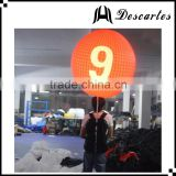 "Letter ""9"" printing lighted inflatable backpack walking balloon for advertising"