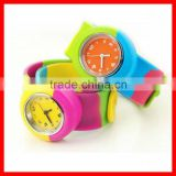 New arrival fashion silicone bracelet slap on watch