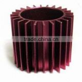 anodized straight spur gear OEM precision metal machined parts red anode gears aluminum turning gears durable colorful anodized