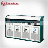 Outdoor/garden/park multipurpose compartment waste sorting battery recycle bin/ trash container
