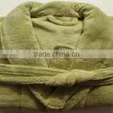 Dark Green Coral Fleece Bathrobe Spa Robe