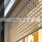 aluminum grille roller shutter security shop door for commercial usage