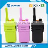 SAMCOM 5C,colorful and individual , 100 mile mini walkie talkie