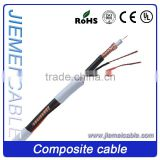 CE RoHS approved Low Loss Coaxial cable RG59 with two power for video camera CCTV system security cable