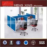 Blue color four seats office partition office table partition used office partition wall
