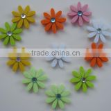 Felt craft flower with acrylic ornament fridge magnet ,flower sticker for promotion decorative DIY in home