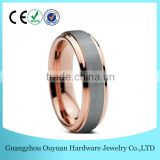 6MM New Design Tungsten Carbide Ring, Brushed Two Tone Tungsten Carbide Ring, Hot Sale Wedding Band Tungsten Ring