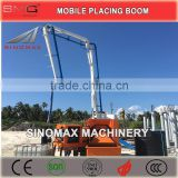 TOP! 13m 15m 17m 18m Mobile Hydraulic Concrete Placing Boom/Spider Boom/Distributor for sale in China