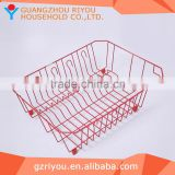 wholsesale red metal iron wire basket for fruit