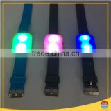 party supplies remote controlled flashing light led silicone wristband
