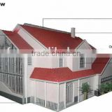light steel villa, hurricane proof prefab houses, architectural design of houses