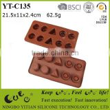 silicone chocolate mould with different shape