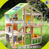 2017 New design wooden big doll house children wooden big doll house unique wooden big doll house W06A158