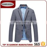 Latest Style Customer Design Mens Grey 2 Button Business Casual Suit Jacket Blazer