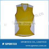 100%polyester good quality men's running vest