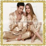 New printing custom pajama adult sexy men nightwear silk pajama