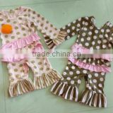 new born jumpsuits giggle moon remake wholesale boutique clothing baby girls owl printing remake ruffle pants outfit sets