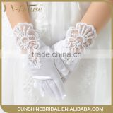 2016 New Fashion High Quality Party Wedding satin kids hand Gloves For Flower Girls