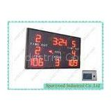 Red Led Electronic Basketball Scoreboard With CE RoHS FCC , 1.5m x 1m