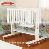 New design baby furniture table rocking bed, wooden electric baby bed swinging crib