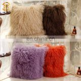 Wholesale High Quality Best Selling Comfortable Lamb Fur Pillow Genuine Mongolian Sheep Fur Pillows