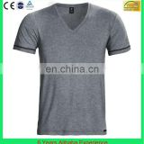 latest style cotton&polyester v neck t shirt wholesale for men-6 Years Alibaba Experience