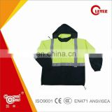 Hi Viz Reflective Safety Winter Parka, High Visibility Bomber Jacket With PU Coated, KF-055