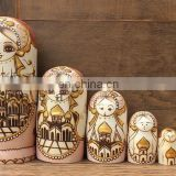 custom wood russian nesting dolls matryoshka