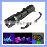 3 Modes Zoomable Blacklight 5W 365nm Ultraviolet Flashlight UV Torch