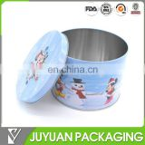 Custom cute biscuits in tin boxes christmas metal tin cans