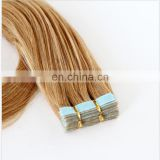 Machine Made Grey Human Hair Weaving Virgin Indian Hair Extension Wholesale Indian Remy weft Tape Hair Extensions