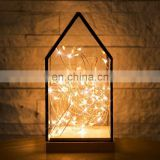House geometric Shape Decor Terrarium with 3m String Light Set
