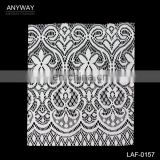 Newest white african lace fabrics;fashional cotton nylon spandex lace fabric;eco-friendly african net lace fabric