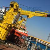 Telescopic boom marine cranes in low peice for sale
