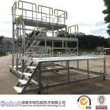 Mobile Industrial Aluminium Work Platform Ladder for Aviation