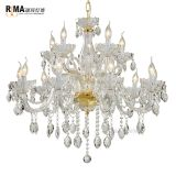 Modern luster k9 crystal chandelier for home decoration restration hardware hotel pendant lighting