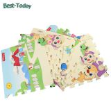 Non-Toxic & Tasteless Double Side XPE Foam interlocking joint mat with 180*150*1 cm