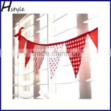 Fabric Triangle Flag Bunting For Decoration SD103
