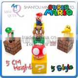 Mini Qute plastic Anime Cartoon Game super mario model doll action figures kids collection toys NO.MQ 041