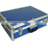 Blue Aluminum Briefcase Empty Tool Box