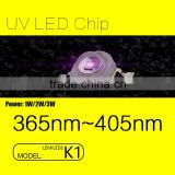 2016 LUMILEDS K1 LED UV Beads 395nm-405nm LED Light Source with 3W for Coating and Adhestive FACTORY price