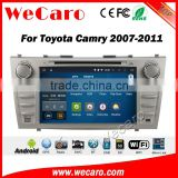 Wecaro WC-TC8006 android 5.1.1 car pc for toyota camry 2007-2011 dvd player gps navigation system WIFI 3G Playstore