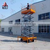 6 m battery auxiliary self-propelled scissor lift/aerial working tables/hydraulic self propelled scissor man lift