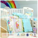 Cartoon soft cheap home cotton baby bedding crib sets girl