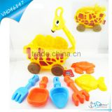 Free Wheel Lovely Girafe Bucket Car Summer Sand Toy Set