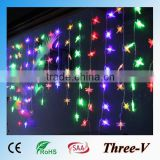 104LED 2*1M led Xmas lights holiday decoration window curtain dragonfly/stars/snowflake/heart/angel/cherry/lantern/bubble stick                                                                         Quality Choice