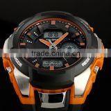 2015 New Brand Dual Time Boys Digital Men Watch Mens Wrist Watch Rubber Watches WS075/076/077