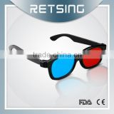 2015 cheap black color different style plastic frame 3D glasses for movies theater
