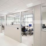 Glass high partition wall for modern office room