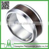 High quality men fashion jewelry 2016 wooden inlay tungsten ring